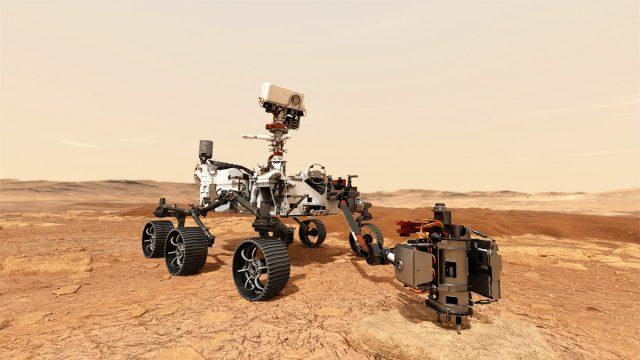 Vehículo que explora Marte mientras usted lee esto