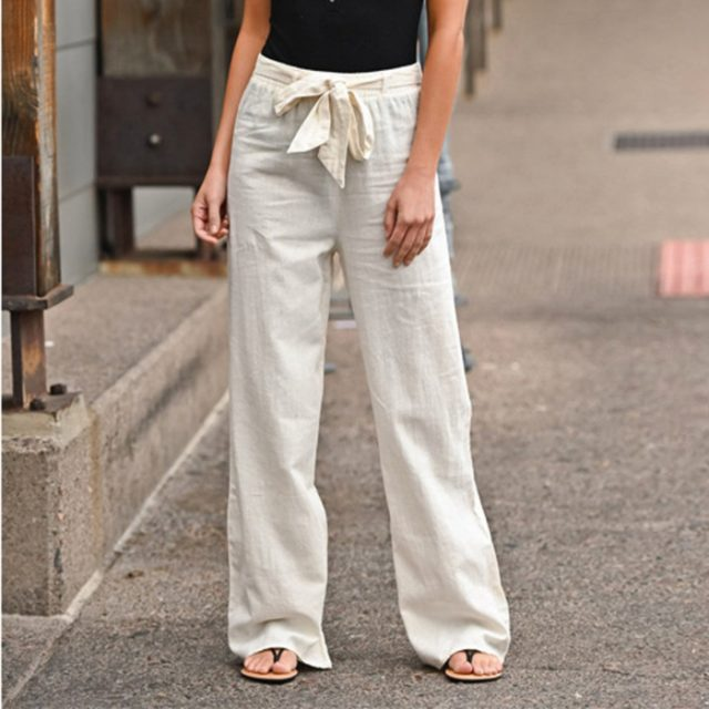Pantalones de lino nuevos joggers