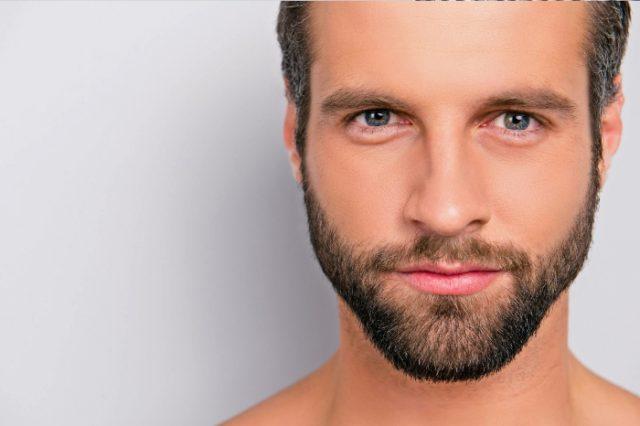 Hombre con barba bien cuidada