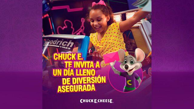 Disfrute de un día lleno de diversión en Chuck E. Cheese