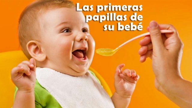 Primeros alimentos de un bebé